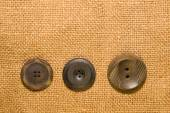 A lot of vintage buttons on old cloth — ストック写真