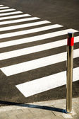 Crosswalk markings painted on the asphalt in the city — Stock Photo
