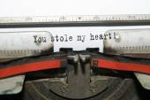 Sheet of paper with the inscription in the typewriter — Stock Photo