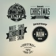 Christmas on the beach. Set of vector typography designs — Stock Vector #69309303