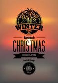 Winter time. Vector illustration. — Stock Vector