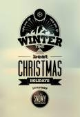 Winter time. Typographic Retro Vector Christmas Design. — Stock Vector
