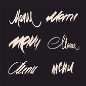 Vector set of calligraphic menu headlines. — Stock Vector