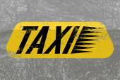 Taxi. Typographic retro grunge poster with textural background. Vector illustration. — Stock Vector