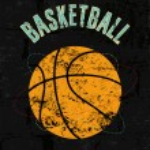 Basketball vintage grunge style poster. Retro vector illustration. — Stock Vector #71102079