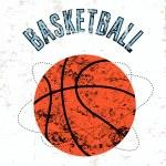 Basketball vintage grunge style poster. Retro vector illustration. — Stock Vector #71102263