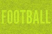 "Football green grass background. Mowed the word ""Football"" in the grass. Vector illustration. — Stock Vector"