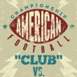 American football typographical vintage grunge style poster. Retro vector illustration. — Stock Vector #73504513