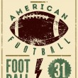 American football typographical vintage grunge style poster. Retro vector illustration. — Stock Vector #73505249