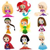 Set of fairy tales — Stock Vector