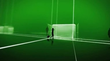 Pracy zespołowej zielony — Wideo stockowe