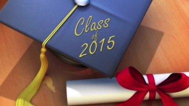 Graduation Congratulations Single Cap — Stock Video