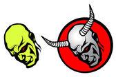 Cabeças de demônio — Vetor de Stock