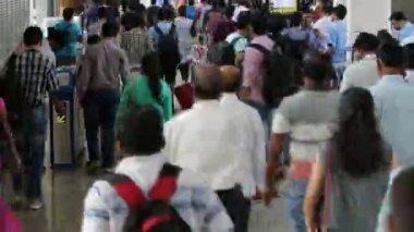 Mumbai, India: March 15, 2015: Mumbai Metro train time lapse. Shot on March 15, 2015. — Stock Video