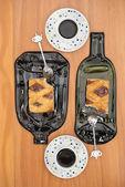 Два Айва пироги, порезы, итальянский и аргентинское рецепт — Стоковое фото