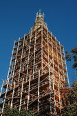 Renovation of an church tower — Stock Photo