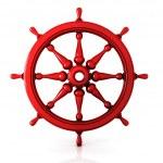 Ship wheel 3d isolated on white background — Stock Photo #68485639