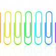 Colorful collection of paper clips isolated on white background. Rendered Illustration. — Stock Photo #70640139