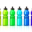 Colorful sport plastic water bottles — Stock Photo #71075955