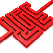 Red path labyrinth. — Stock Photo #71080891