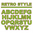 Retro style font, alphabet. Vector illustration — Stock Vector #75216309