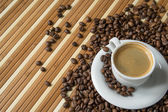 Espresso and beans — Stock Photo