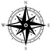 Black wind rose symbol — Stock vektor