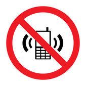 Mobile phone ringer volume mute sign — Stock Vector