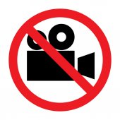 Sign of prohibition of video camera — Cтоковый вектор