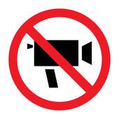 Sign of prohibition of video camera — Cтоковый вектор