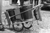 Garbage cart — Stock Photo