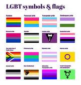 LGBT symbols and flags — Vetor de Stock
