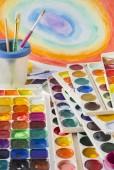 Brush and watercolour   — Stock Photo