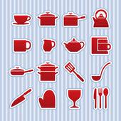 Icona di cose di cucina — Vettoriale Stock