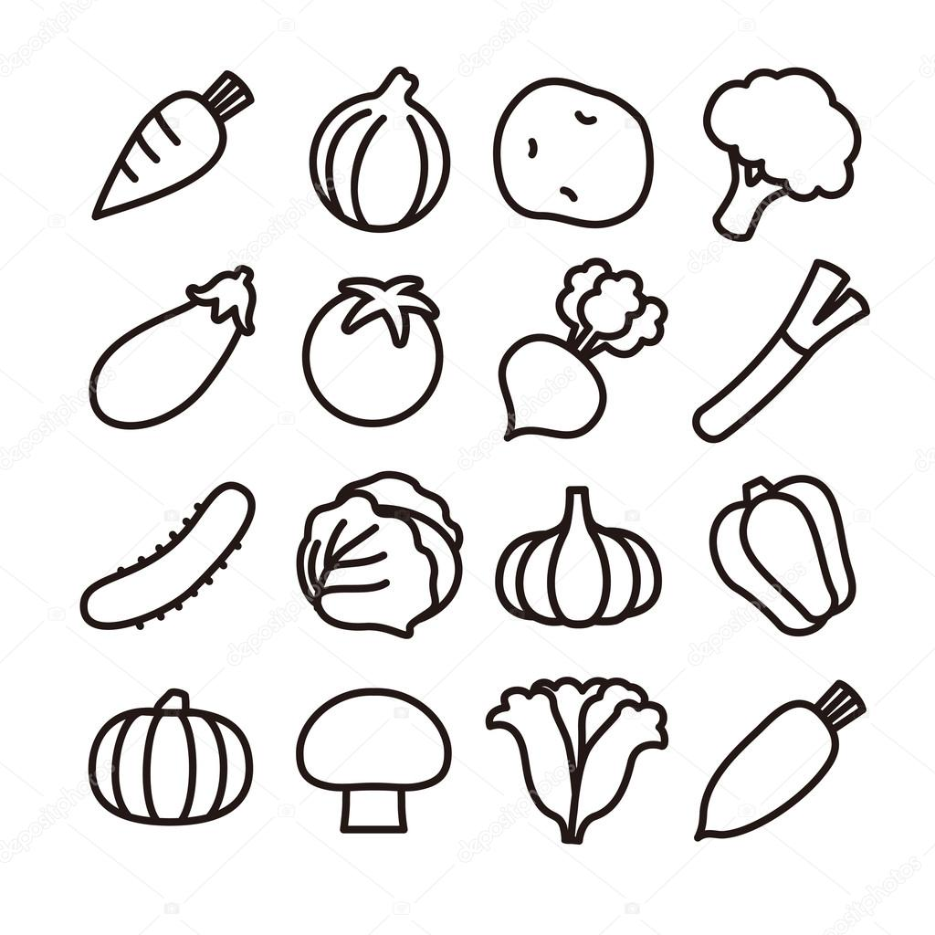 vegetable icon � stock vector 169 michikodesign 74818517