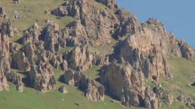 Nature and landscapes mountainous gorges — Stock Video