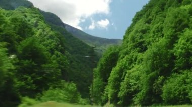 A trip to the mountainous roads in the Republic of North Ossetia-Alania, — Wideo stockowe