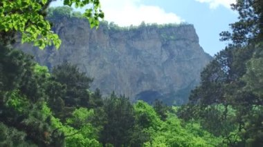 Nature views Kurtat gorges of North Ossetia-Alania — Wideo stockowe