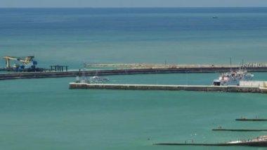 The water area of the Black Sea off the coast of Sochi — 图库视频影像