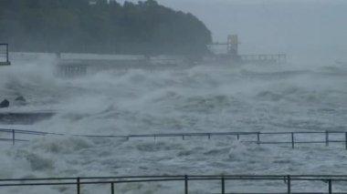 Summer Storm on the Black Sea — Vídeo de stock