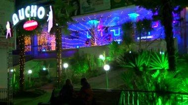 晚上的意见市中心索契 2014 年 2 月在奥运期间 — 图库视频影像