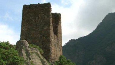 Kurtat Gorge in North Ossetia. Women's sanctuary — Video Stock
