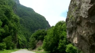 Types and attractions Kurtat gorges of North Ossetia-Alania, Russia, the Caucasus. — Stock Video
