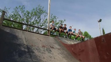 Competitions parkour in a city park Sochi, Russia — Stock Video