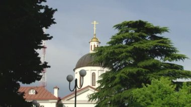 Buildings Cathedral of the Archangel Michael Sochi, Russia — Stockvideo