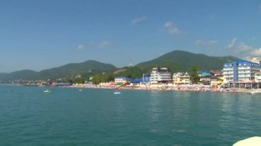 Summer vacation on the Black Sea in the village. Lazarevskoye mountains. Sochi. — Stock Video