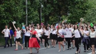 Festive Carnival in the city of Sochi, Russia — Stock Video