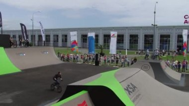May 31, 2015 at the Olympic Park in Sochi, Russia — Stock Video