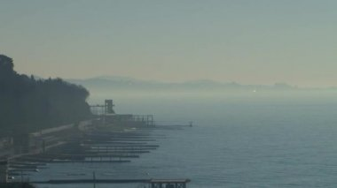 Types of Black Sea near the city of Sochi, Caucasus, Russia — Stock Video