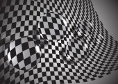 The abstract  glass balls on a chessboard,eps10. — Vetor de Stock